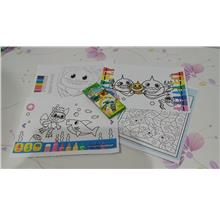 Cutie cutie baby shark colouring set