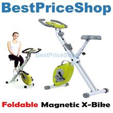Super Silent Foldable Magnetic X-Bike Cycling Fitness Exercise Bike