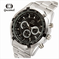Gucamel B043 Men Quartz Watch Decorative Sub-dial Stainless Steel Band