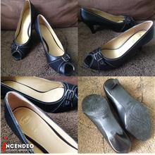 **incendeo** - Scholl Black Leather Heels for Ladies