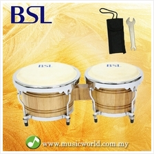BSL Bongo 7  & 8 Inch Tunable Percussion Drum Latin Full Wood High Qual
