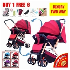 Luxury 2 Two Way Facing Lightweight Baby Stroller Pram Folding