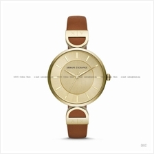 A|X ARMANI EXCHANGE AX5324 Women's 3-hand Easy Reader Leather Gold