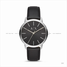 A|X ARMANI EXCHANGE AX2703 Men Cayde 3-hand Easy Reader Leather Black