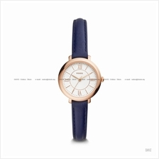 FOSSIL ES4410 Women's Jacqueline 3-hand Slim Leather Strap Navy