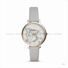 FOSSIL ES4377 Women's Jacqueline 3-hand Marble Dial Leather Strap Grey
