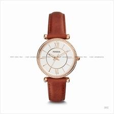 FOSSIL ES4428 Women's Carlie 3-hand Glitz Leather Strap Terracotta