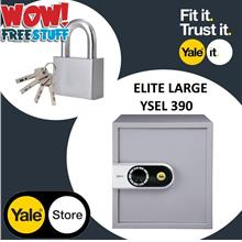 Yale YSEL/390/EG5/EG7 Elite Digital Safe Large, FOC Padlock