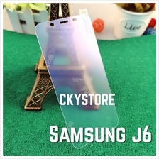 SAMSUNG Galaxy J6 Matte with PE BLUE Light Tempered Glass