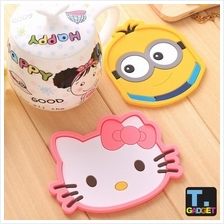 Silicone Cartoon Cup Coaster Nonslip Place Mat pads Cup Cushion Tea Cu