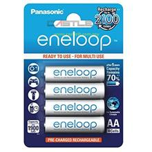 PANASONIC Battery RECHARGEABLE AA 4PCS 1900MAH (BK-3MCCE/4BE) WHITE