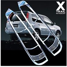 [8140] Nissan X-Trail Xtrail Mk1 Chrome Tail Light Trim Rear Lamp Rim
