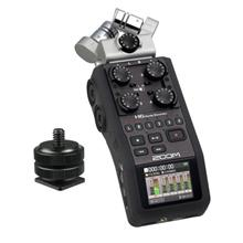 Zoom H6 Handy Digital Audio Sound Recorder + Hotshoe Mount