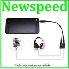 3.5mm Audio Split Cable for Mobile Phone Handphone Iphone Android SPY1