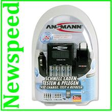Ansmann Powerline 4 Pro AA AAA Battery Charger with discharge function