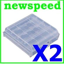 New AA Rechargeable Battery Box Case Container (2pc)