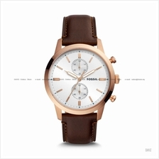 FOSSIL FS5468 Men's Townsman Chronograph Leather Strap Java
