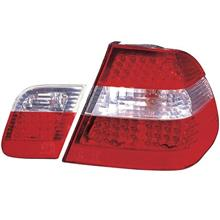 DEPO Bmw E46 98-04 4D 98-02 Tail Lamp Crystal LED Red/Clear [BM02-RL05