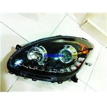 Perodua Myvi LED Daylight Projector Head Lamp With Rim Left Side Only