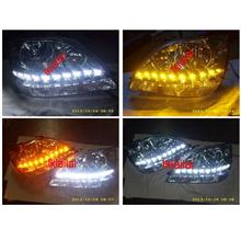 Toyota Harrier RX300 `98-02 Head Lamp + 2-Function DRL R8
