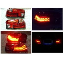 Proton Wira LED Light Bar Tail Lamp Red-Clear Lens [4pcs/set]
