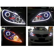 NISSAN ALMERA Head Lamp  2-Function Eye Brown DRL [NO Head Lamp]