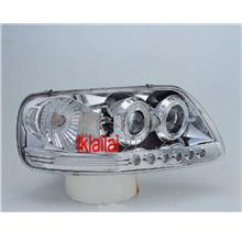 Ford Expeditio F150 97 LEDRing Projector Head Lamp DRL R8 Black/Chrome