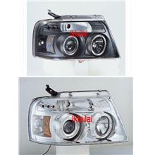 Ford F150 04-07 LED Ring Projector Head Lamp [Black/Chrome Housing]
