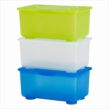 IKEA Glis Box With Lid 17x10cm White/Light Green,Blue Keep Accessories