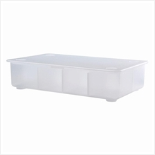 IKEA Glis 34x21cm Box With Lid, Transparent Perfect Place To Keep Pens