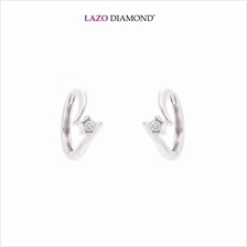 Lazo Diamond Starry 9K White Gold Diamond Earrings - DE0186)