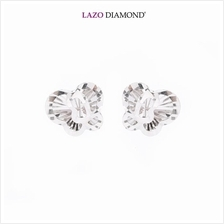 Lazo Diamond 9K White Gold Stud Earrings - 8E2500)