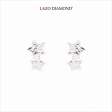 Lazo Diamond 9K White Gold Stud Earrings - 8E2497)