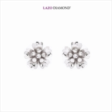 Lazo Diamond 9K White Gold Stud Earrings - 8E2350)