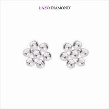Lazo Diamond 9K White Gold Stud Earrings - 8E2332)