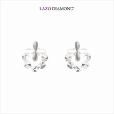 Lazo Diamond 9K White Gold Stud Earrings - 8E2504)