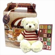 Valentines Day Present with 14inch Teddy Bear, I Love You Card & Box