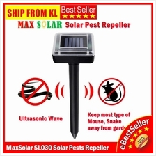 2pcs MaxSolar Solar SL030 Ultrasonic Mouse Rat Bug Pest Mouse Repeller