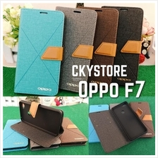 OPPO F7 / VIVO Y71 Y85 V9 NEW Canvas LINE Standable Flip Case
