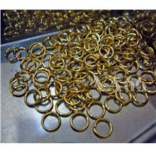 DIY Gold Silver Jump Rings 5mm or 4mm 40pc Jumprings Findings Parts