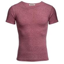 CASUAL ROUND COLLAR SHORT SLEEVE SOLID COLOR COTTON BLEND T-SHIRT