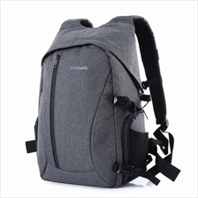 PROWELL DC21439 DSLR CAMERA FLAX PHOTOGRAPHY BAG BACKPACK (GRAY)
