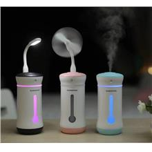 Ultrasonic Cool Mist Air Humidifier with LED Light & Fan