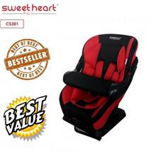 Sweet Heart Paris CS301 Adjustable Armrest Car Seat (Black Red)