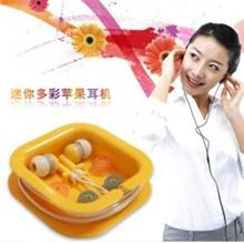 Candy Color Square Box Fashion Anti Noise MP3 Earphone