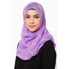 QASEH LONG SHAWL PURPLE TUDUNG HIJAB MUSLIMAH FASHION standard