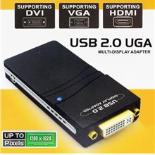 HIGH QUALITY USB 2.0 TO VGA DVI HDMI MULTI GRAPHIC ADAPTER (CO040)