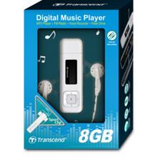 TRANSCEND 8GB MP330 MP3 PLAYER (TS8GMP330) BLK/WHT/PINK