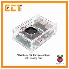 Transparent Acrylic Case Enclosure for Raspberry Pi 2 Model B with Fan
