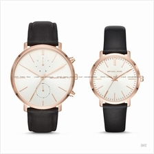MICHAEL KORS MK3859 Jaryn Lover Couple Pair Watch Leather Box Set